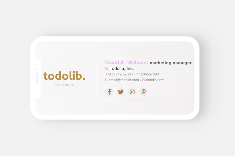 How To Create A Free Email Signature Template 2019 Update Todolib