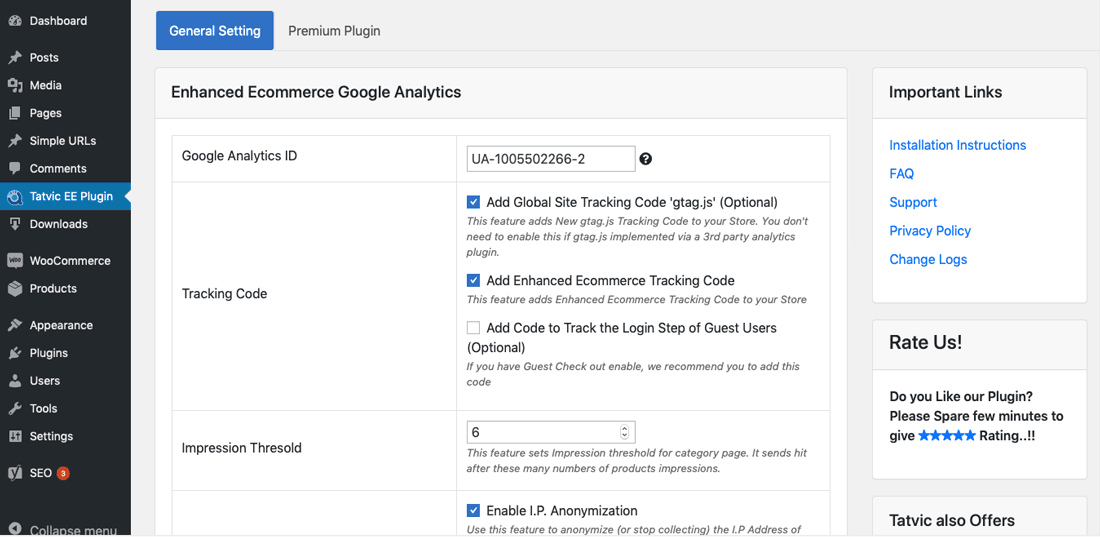 Configure Enhanced Ecommerce Google Analytics step 01