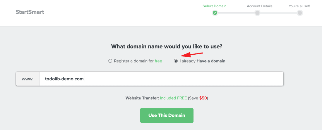add your own domain