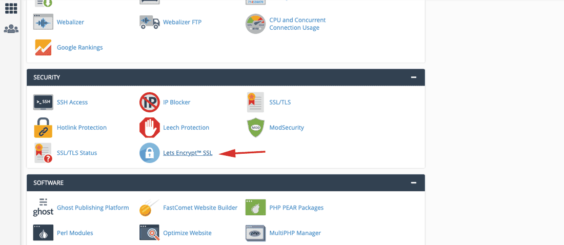 choose Lets Encrypt™ SSL on cPanel