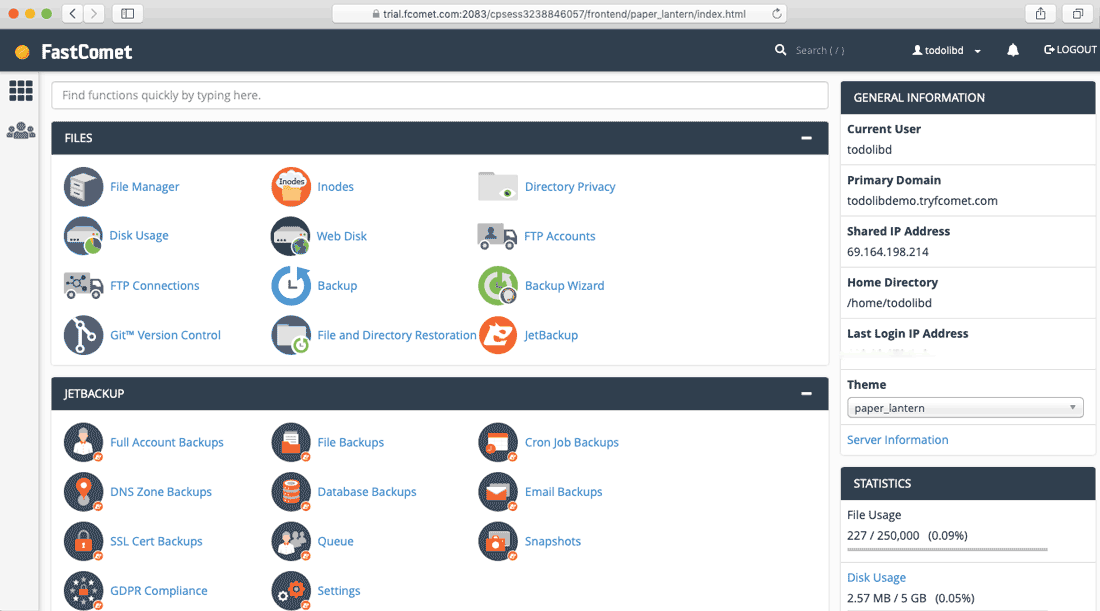 login to your web hosting cPanel