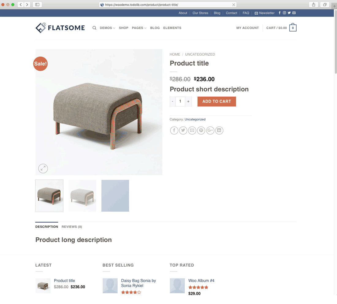woocommerce store setup product page