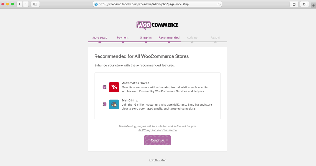 woocommerce store setup recommended theme plugins